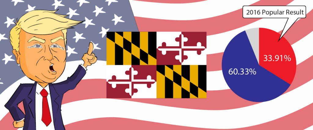 Maryland for Trump 2020 - Buy Donald Trump Merchandise for Maryland State