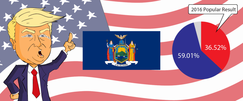New York for Trump 2020 - Buy Donald Trump Merchandise for New York State