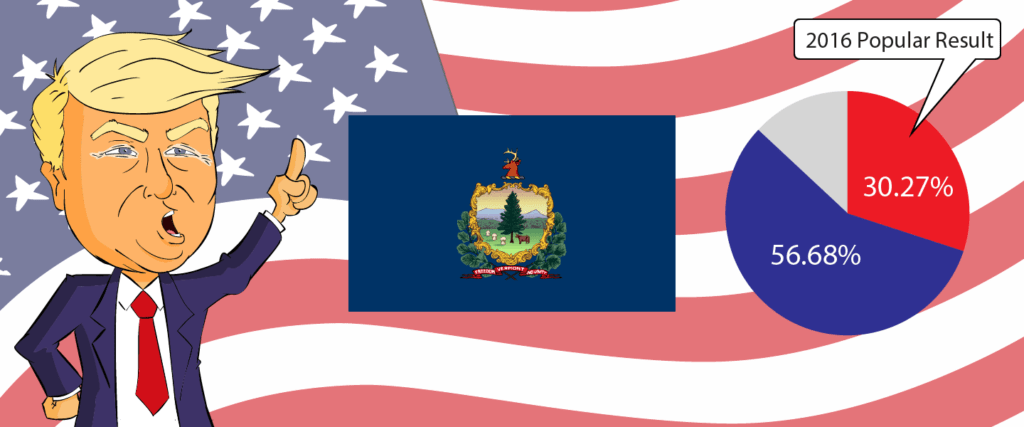 Vermont for Trump 2020 - Buy Donald Trump Merchandise for Vermont State