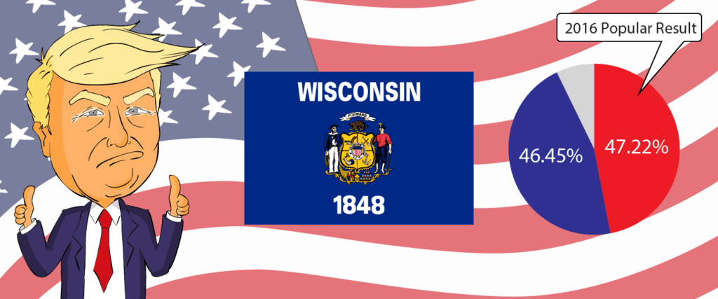Wisconsin for Trump 2020 - Buy Donald Trump Merchandise for Wisconsin State