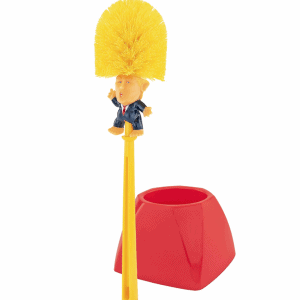 773_1 Donald Trump Toilet Brush and Holder