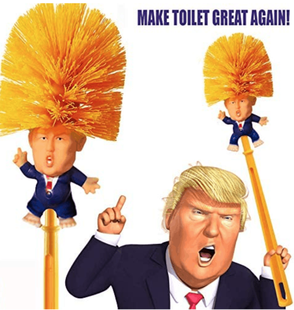 774_1 Donald Trump Toilet Brush with Legs